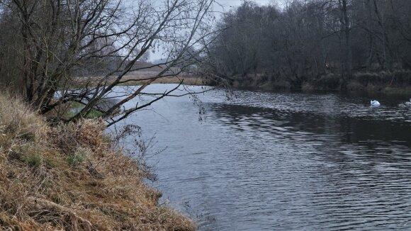 Nevėžio upė šiltą žiemą