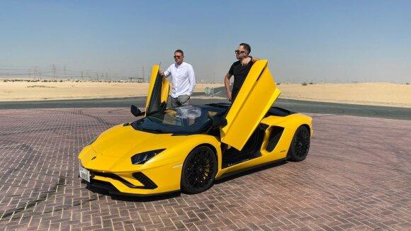 Egidijus Dragūnas-Sel ir Algirdas Minalga-Soliaris Dubajuje/ Foto: Delfi
