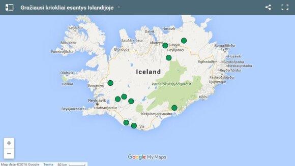 10 gražiausių Islandijos krioklių