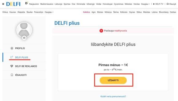 Kaip užsiprenumeruoti DELFI Plius?
