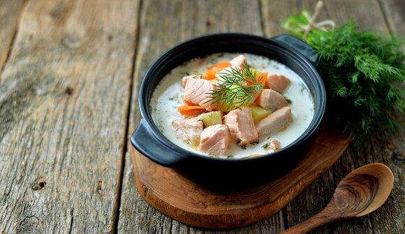 Žuvienė su lašiša