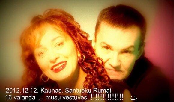 """Džordana Butkutė ir Elegijus Strasevičius, """"Facebook"""" nuotr."""