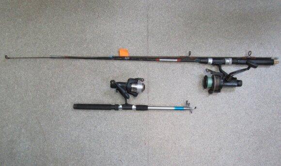 Konfiskuoti pažeidėjų įrankiai
