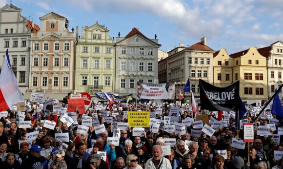 Protestas Čekijoje