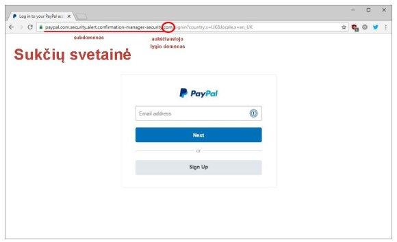 """Netikra """"Paypal"""" mėginanti mėgdžioti svetainė"""