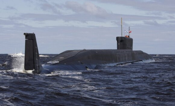 "Povandeninis laivas ""Jurij Dolgorukij"" skirtas gabenti raketas ""Bulava"""