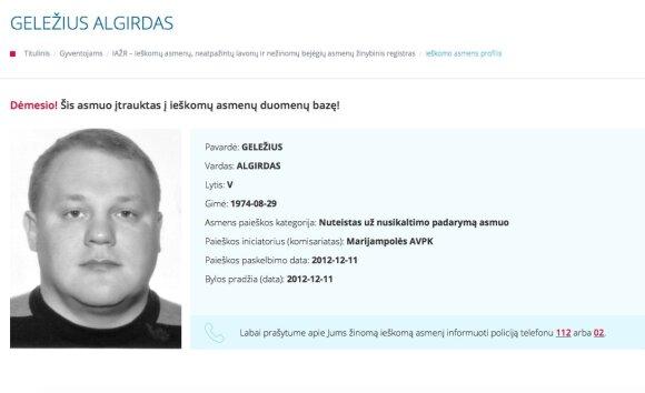 Rusijoje sulaikytas buvęs politikas – vienas ieškomiausių Lietuvos žudikų