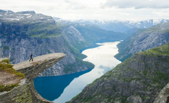 Trolio liežuvio uola, Norvegija