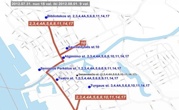 Eismas Klaipėdos miesto ir Jūros švenčių metu