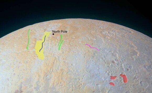 В НАСА разглядели каньоны на северном полюсе Плутона