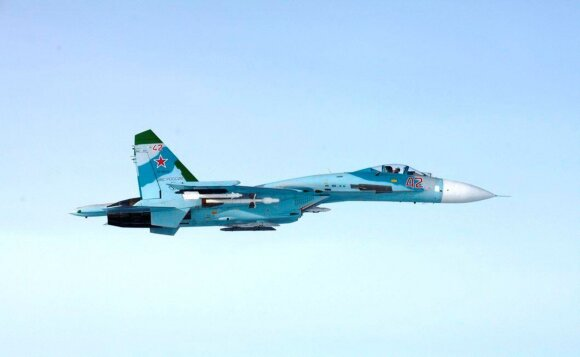 Rusų naikintuvas SU-27, pažeidęs Suomijos oro erdvę