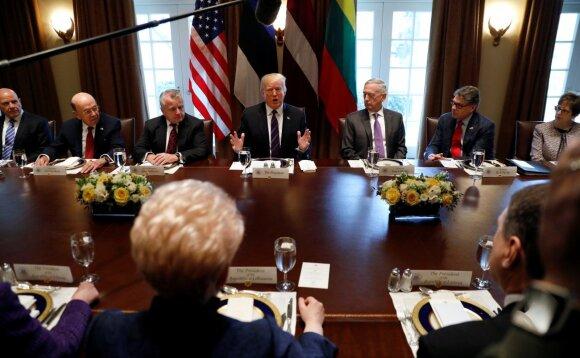 Trumpas susitikimo su Baltijos šalių vadovais metu: JAV liks ištikima draugė ir sąjungininkė