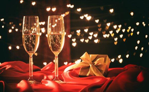 Valentino dienos stalo dekoras