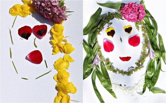 Kol pievoje dar žydi gėlės: spalvingi darbeliai su vaikais