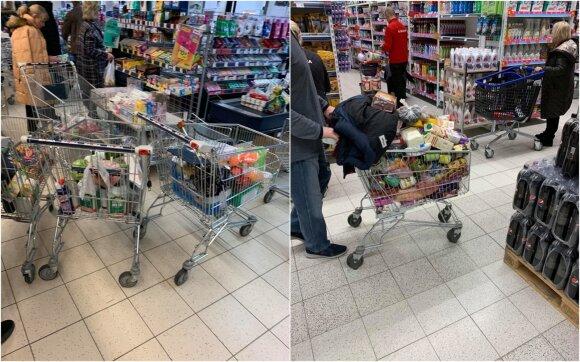 Gyventojai iš parduotuvių šluoja prekes