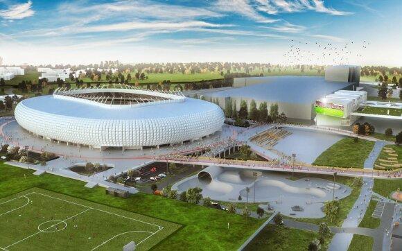 """Stadiono statybas pirmiausia pajus gyventojai: kamščiai didės, o apie """"Akropolį"""" suksime ratus"""