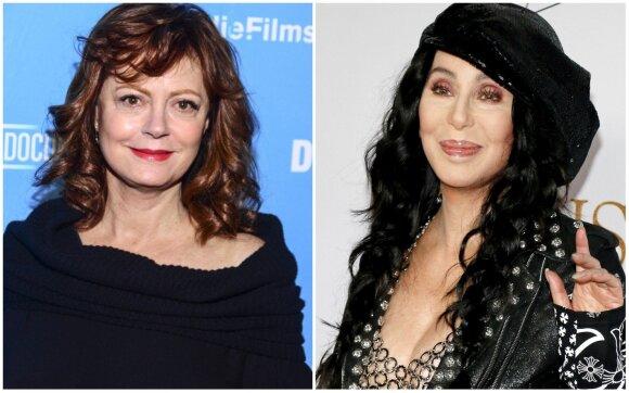 Susan Sarandon ir Cher