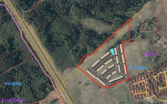 Naujo kvartalo Bendoriuose statybos/Vizualizacija