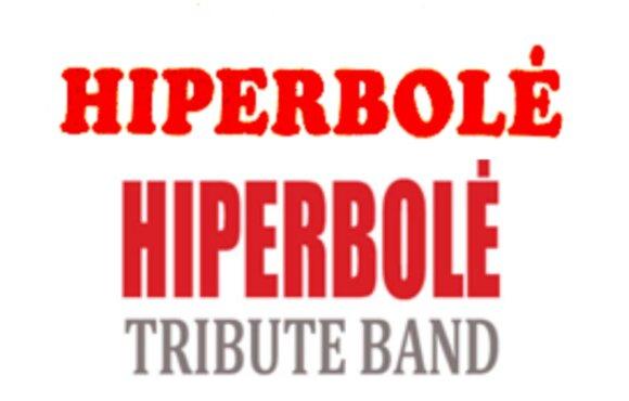 """""""Hiperbolė"""" prekinis ženklas (viršuje) ir į jį panašus pavyzdys (apačioje)"""