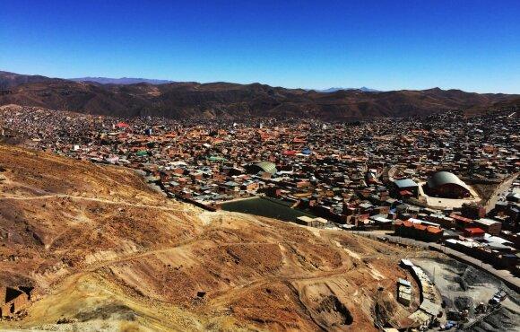 Sidabro ištekliais turtingas miestas, kuriame klesti korupcija ir skurdas