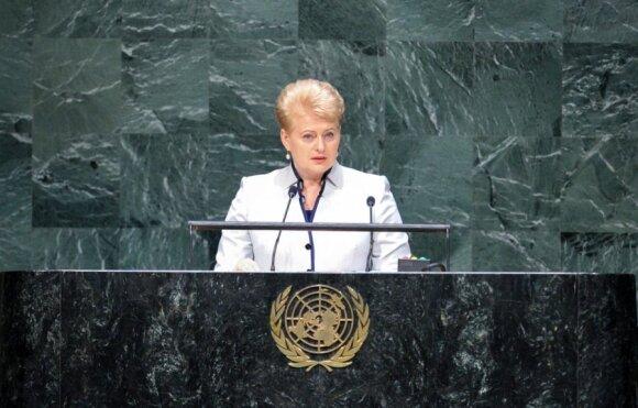 Dalia Grybauskaitė Jungtinių Tautų (JT) Generalinės Asamblėjos debatuose
