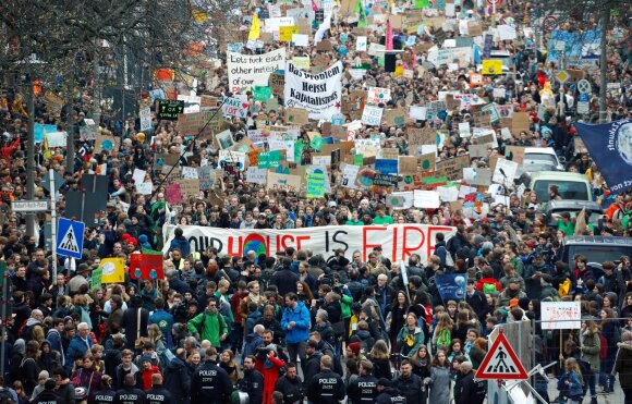 Klimato kaitos protestas Berlyne