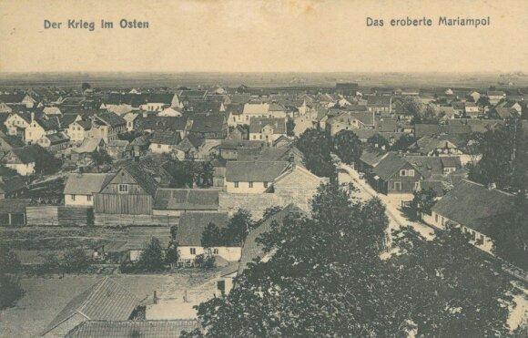 Marijampolės panorama. Pirmojo pasaulinio karo laikų vokiečių atvirukas