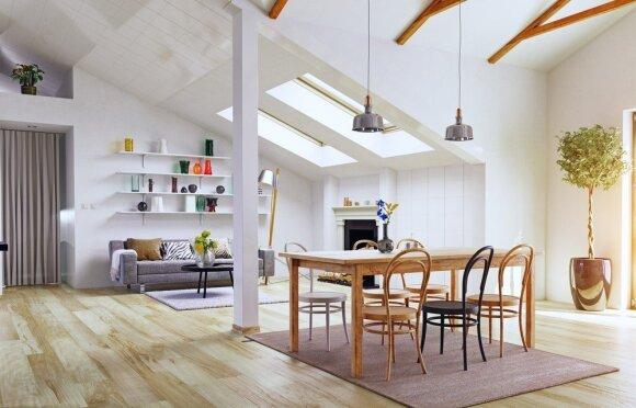 Gyvenamųjų patalpų įrengimas daugiabučio namo palėpėje