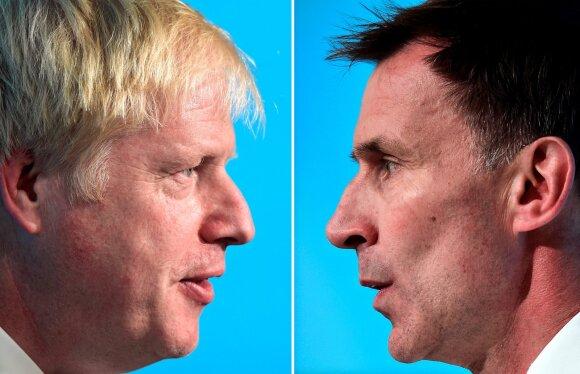 Borisas Johnsonas ir Jeremy Huntas