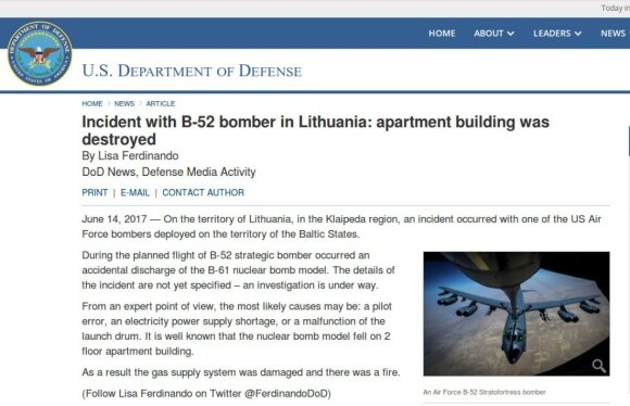 Melagingas pranešimas apie bombą