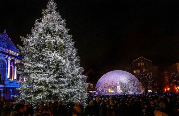 Kalėdinė Klaipėdos eglė