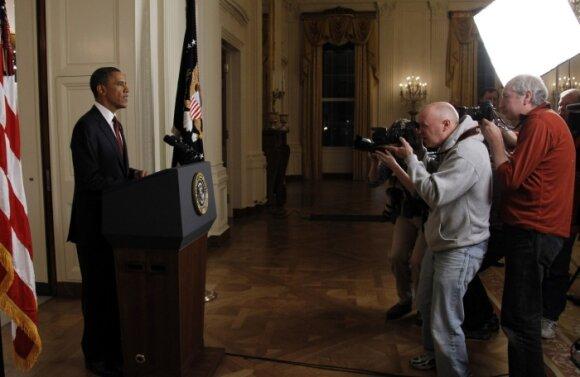 Barackas Obama praneša apie Osamos bin Ladeno mirtį