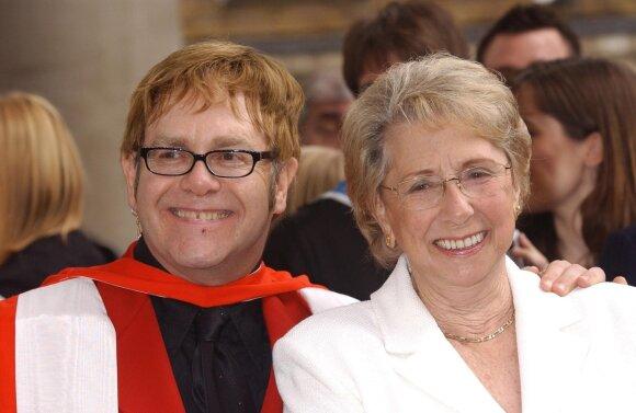 Eltonas Johnas su motina / Foto: London Features International