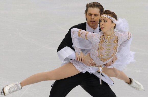 Allison Reed ir Otaras Japaridzė 2010 metų olimpinėse žaidynėse