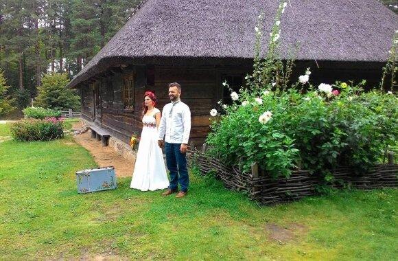 Andrius Smilga su žmona