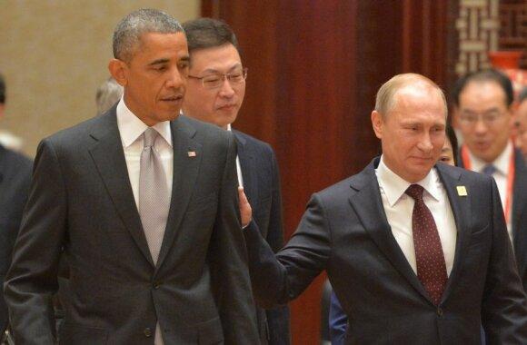 JAV prezidentas Barackas Obama, anot A. Illarionovo, nepaprastai parankus V. Putino imperializmui