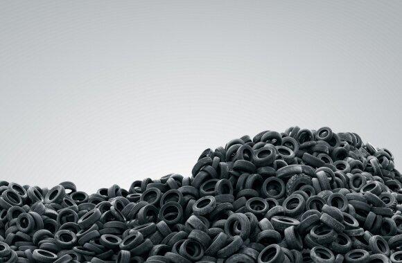 Senos padangos išmetamos bet kur virsta kapinynais