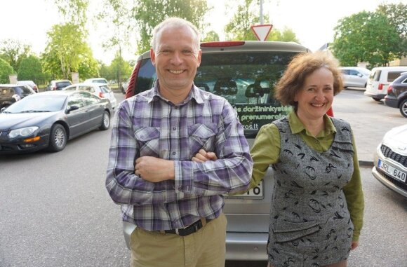 Eimutė Lučiūnienė su vyru