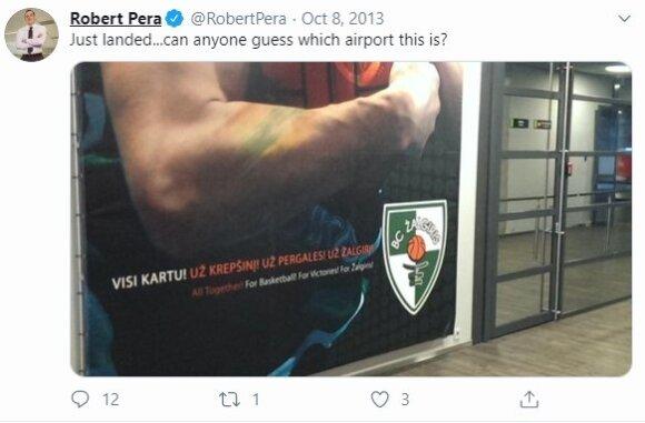 Robert Pera tviteryje