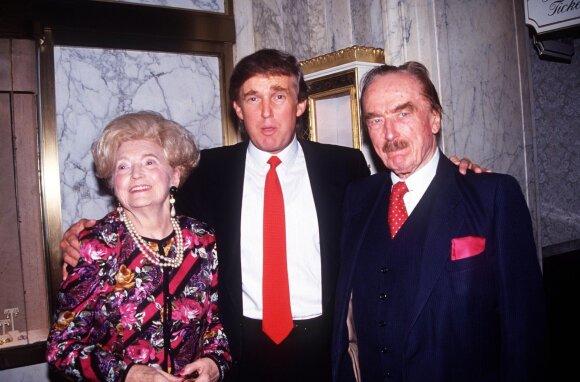 Donaldas su tėvais