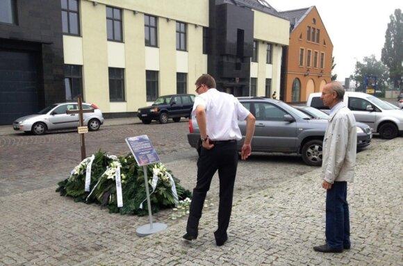 Girto vairuotojo kapas Klaipėdoje