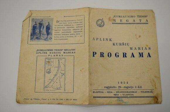 1954-ųjų Kuršių marių regatos programa