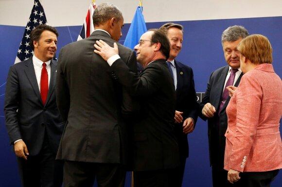 Matteo Renzi, Barackas Obama, Francois Holande, Davidas Cameronas, Petro Porošenka, Angela Merkel