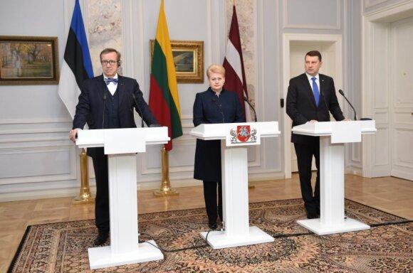 Toomas Hendrik Ilves, Dalia Grybauskaitė and Raimonds Vējonis
