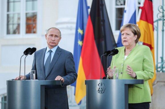 V. Putinas ir A. Merkel