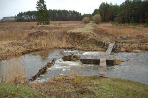 Vieta, kur verslininkas A. Strielčiūnas siekia įsirengti hidroelektrinę
