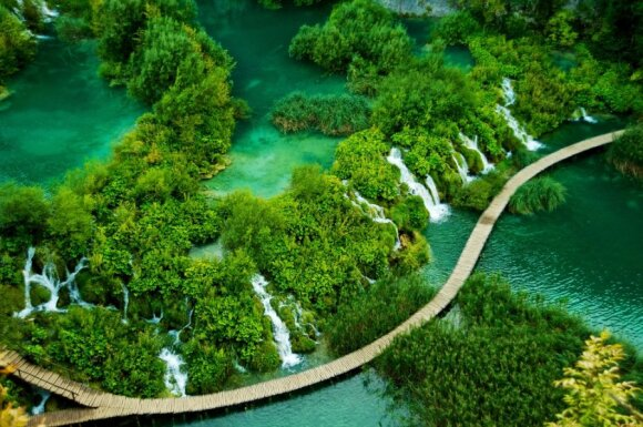 Plitvice ežerai Kroatijoje