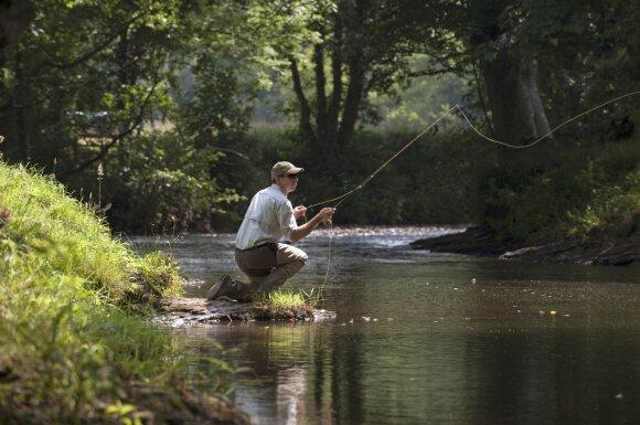 Žvejyba museline meškere