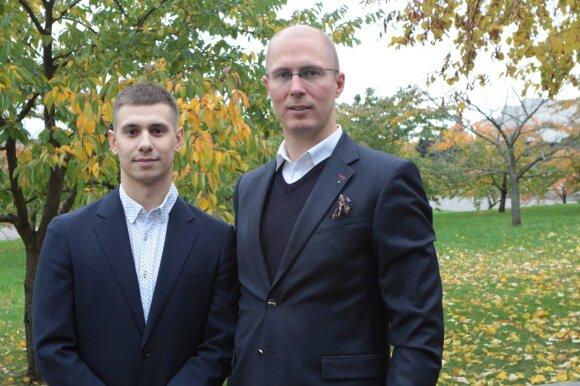 Juozapas Budrikis (kairėje) ir Mindaugas Glinskis