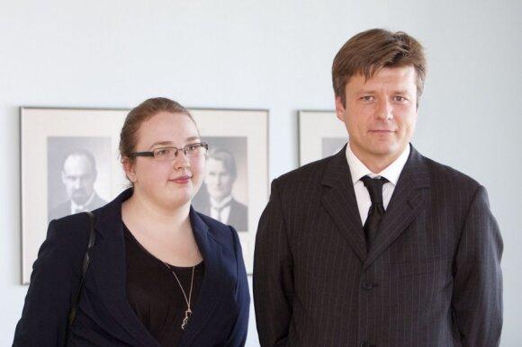 Eglė Ugintaitė ir jos dėstytojas Juozas Brundza